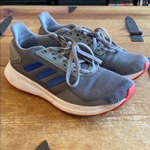 Adidas Boys Grey & White Sneakers - Sz 5
